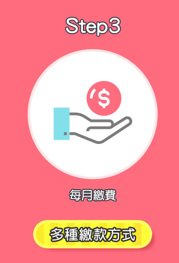 Step3 多種繳款方式